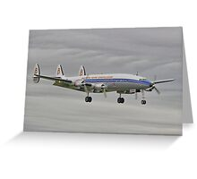 "The Lockheed Constellation (""Connie"") Arrives At Farnborough ! - HDR Greeting Card"