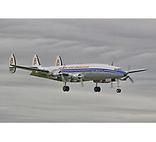 """The Lockheed Constellation (""""Connie"""") Arrives At Farnborough ! - HDR Photographic Print"""