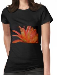 Flower Flames  Womens Fitted T-Shirt