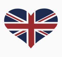 UK flag heart Kids Tee