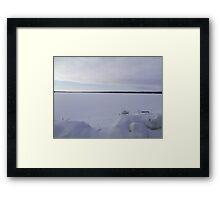 Snowy Peace on the Ottawa Framed Print