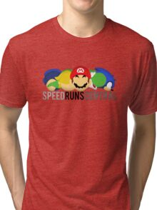 SpeedRunsCentral Official! Tri-blend T-Shirt