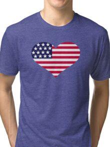United States heart flag Tri-blend T-Shirt