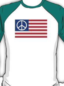 United States flag peace T-Shirt