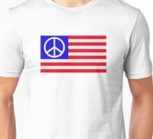 United States flag peace Unisex T-Shirt