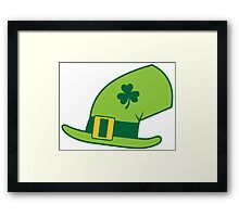 Green Irish Leprechaun hat Framed Print