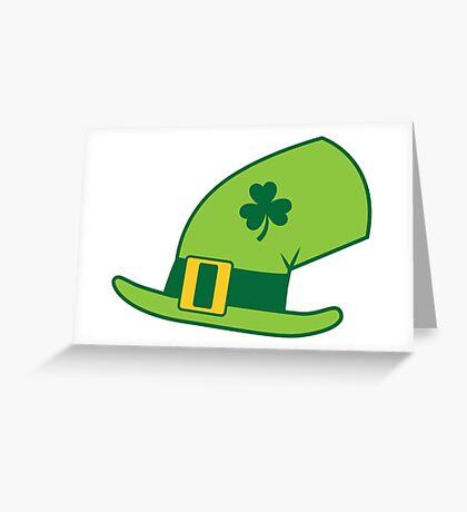 Green Irish Leprechaun hat Greeting Card