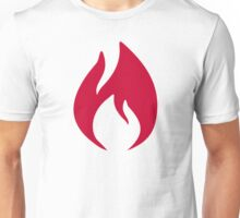 Red fire flame Unisex T-Shirt