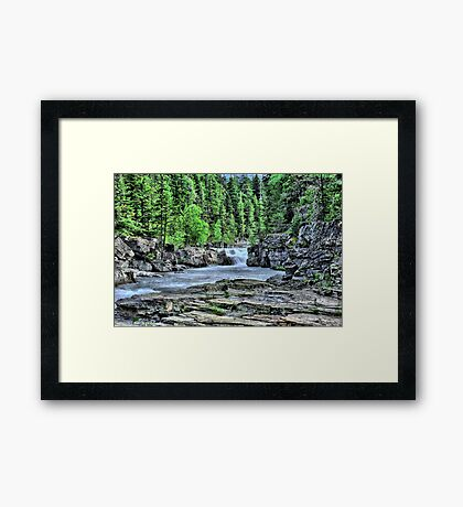 The Start of a water fall Framed Print