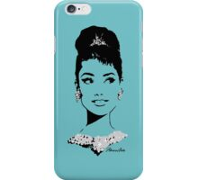 Audrey in Tiffany Blue iPhone Case/Skin