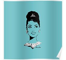 Audrey in Tiffany Blue Poster