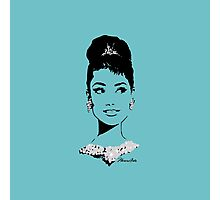Audrey in Tiffany Blue Photographic Print
