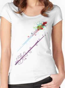 Painted lines Women's Fitted Scoop T-Shirt