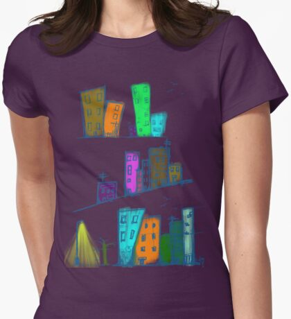 City of colors Womens Fitted T-Shirt