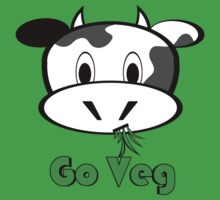 "Cow ""Go Veg"" by hmx23"
