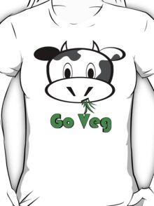 """Cow """"Go Veg"""" T-Shirt"""
