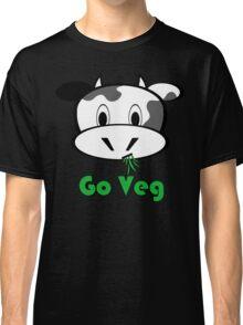 "Cow ""Go Veg"" Classic T-Shirt"