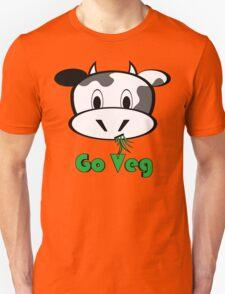 "Cow ""Go Veg"" Unisex T-Shirt"