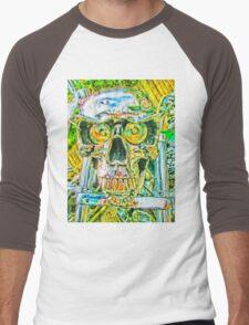 Crazy Skull#2 Men's Baseball ¾ T-Shirt