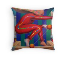 Jugando Throw Pillow