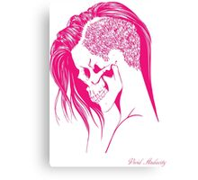 PINK PUNK SKULL GIRL Canvas Print