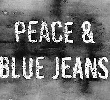 PEACE & BLUE JEANS  by achantingstudio