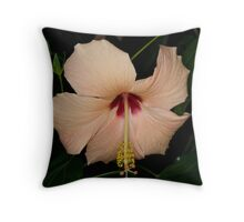 Hibiscus Peach Throw Pillow