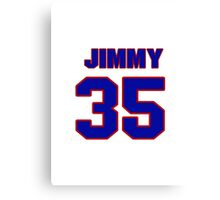 National Hockey player Jimmy Howard jersey 35 Canvas Print