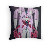 Corrupted Lil' Bunny Throw Pillow