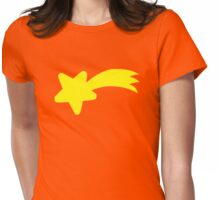 Yellow falling shooting star Womens Fitted T-Shirt
