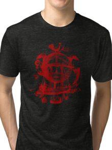 Red Round Blimp Zeppelin Tri-blend T-Shirt