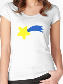 Falling shooting star Women's Fitted Scoop T-Shirt