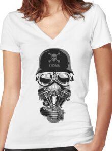 Khoma Women's Fitted V-Neck T-Shirt