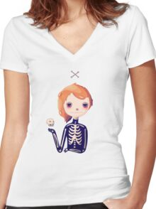 Bones Women's Fitted V-Neck T-Shirt