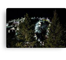 Night Skiing Canvas Print
