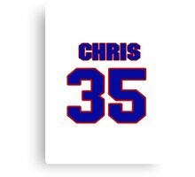 National Hockey player Chris Holt jersey 35 Canvas Print