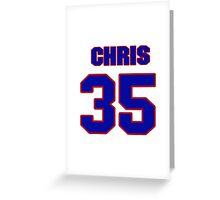 National Hockey player Chris Holt jersey 35 Greeting Card