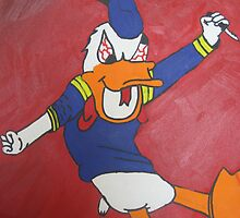 Donald Duck Cutter painting by Mylojs
