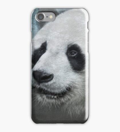 Munching Panda - Textured iPhone Case/Skin