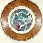 Three Femme 1993 (framed) by Cathie Brooker