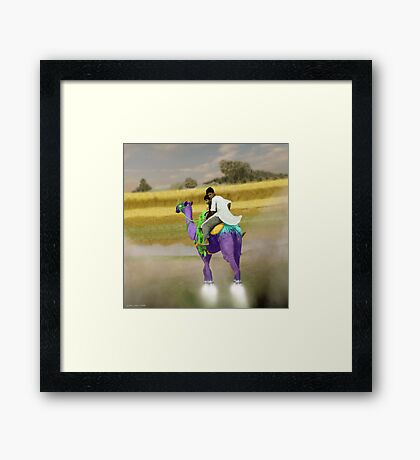 Hold on tight Jani!!! My dear Brother Syed Imran!! Framed Print