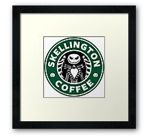 Skellington Coffee Framed Print