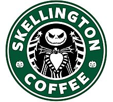 Skellington Coffee Photographic Print