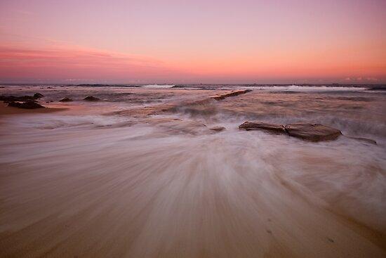 Bar Beach at Dusk by Mark Snelson