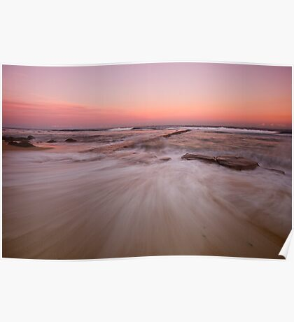 Bar Beach at Dusk Poster