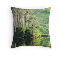Evening reflections on Loch Eilt. Throw Pillow