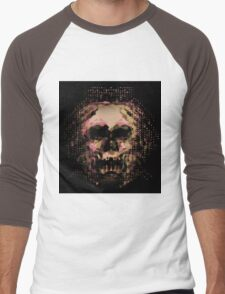 Digital Mirage of Death with Autumn colors.  Men's Baseball ¾ T-Shirt