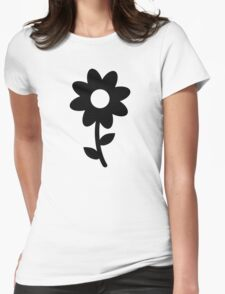 Black flower T-Shirt