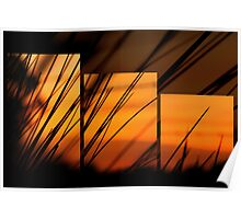 triptych sunrise Poster