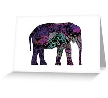 Purple Elephant Greeting Card